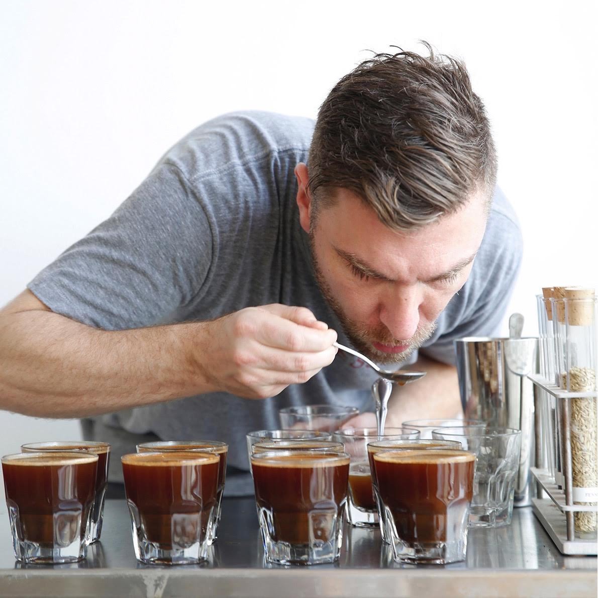 Christopher Lewis of Front Coffee.
