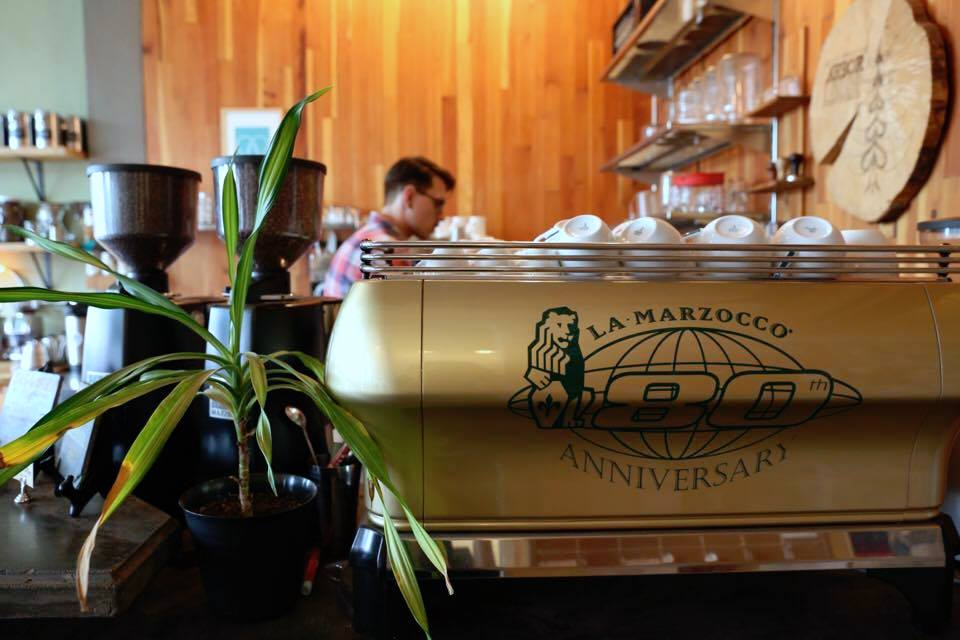 The Arbor Lodge bar with a La Marzocco FB80. Photo by Benjamin D'Emden