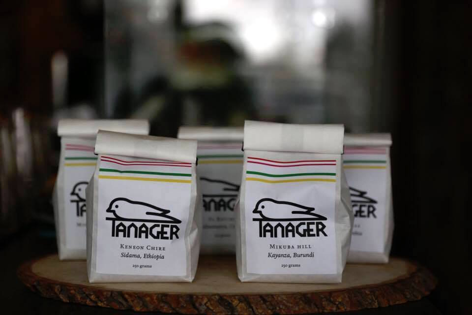 Tanager Coffee bags. Photo by Benjamin D'Emden