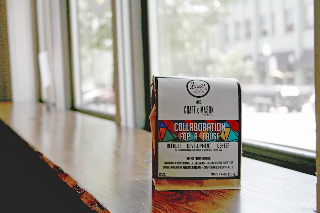 The Collaboration for a Cause blend by Bloom Coffee Roasters and Craft and Mason.