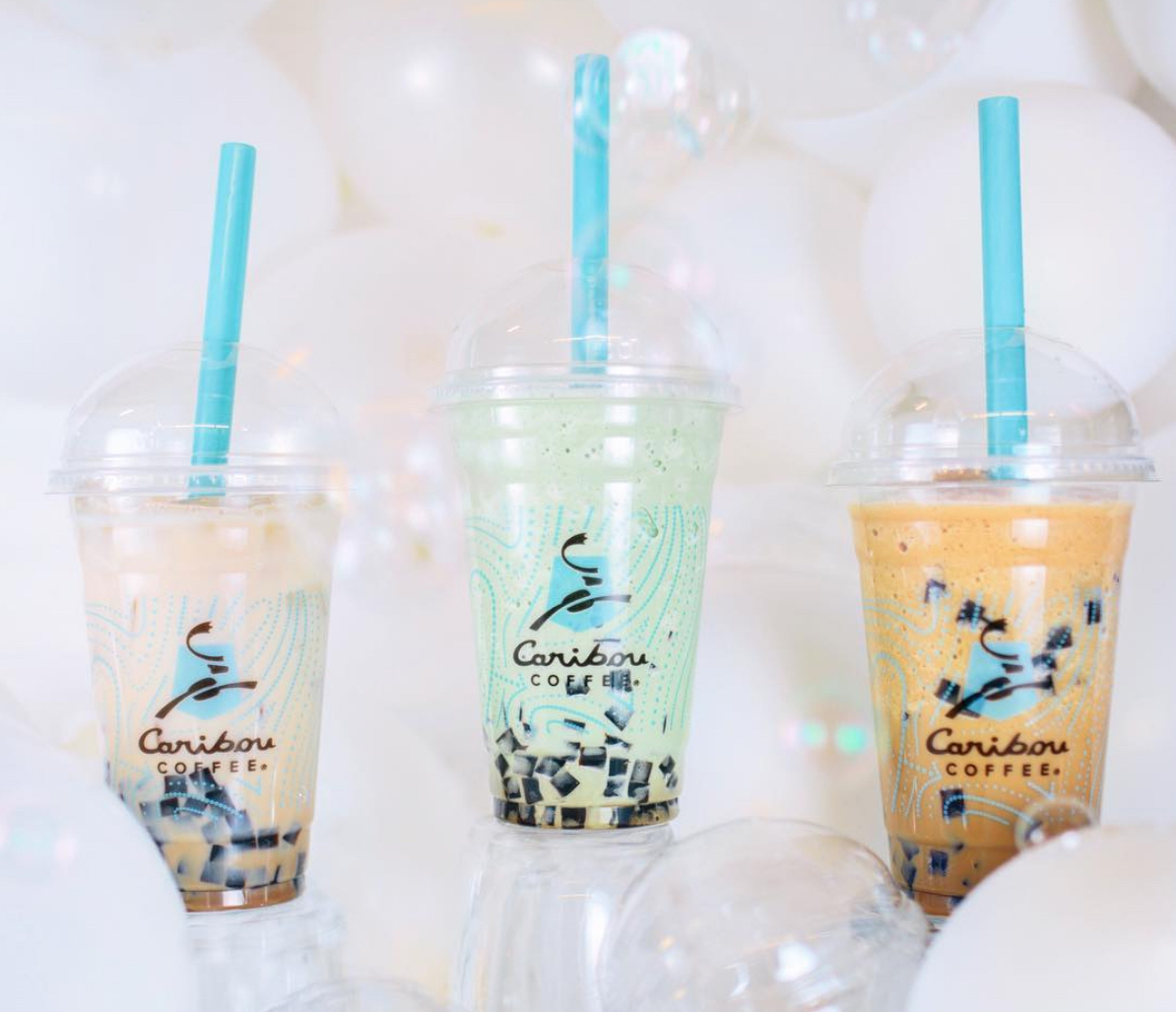 Caribou Coffee bubble coffee
