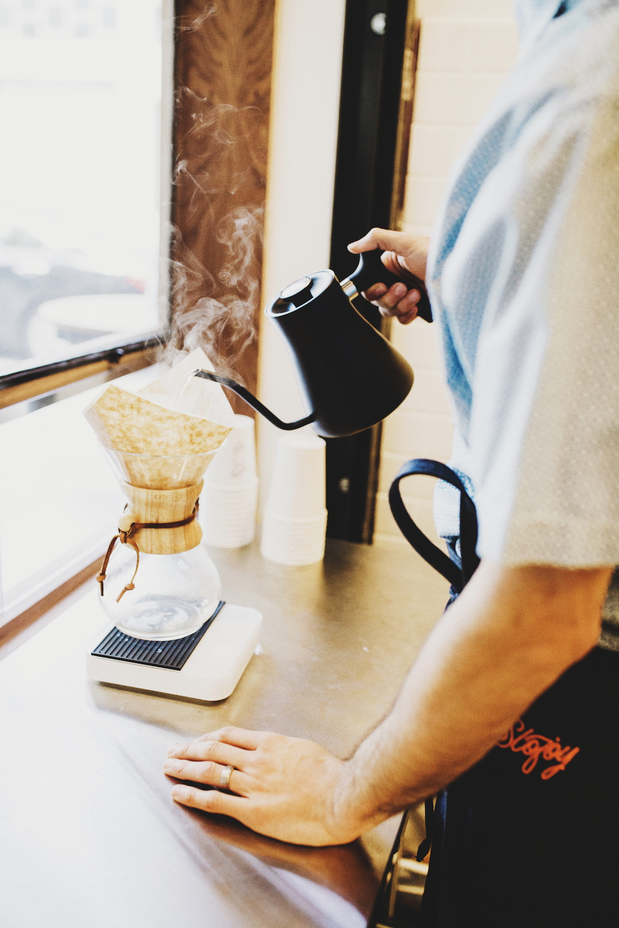 Slojoy coffee roasters bar oakland california pourover
