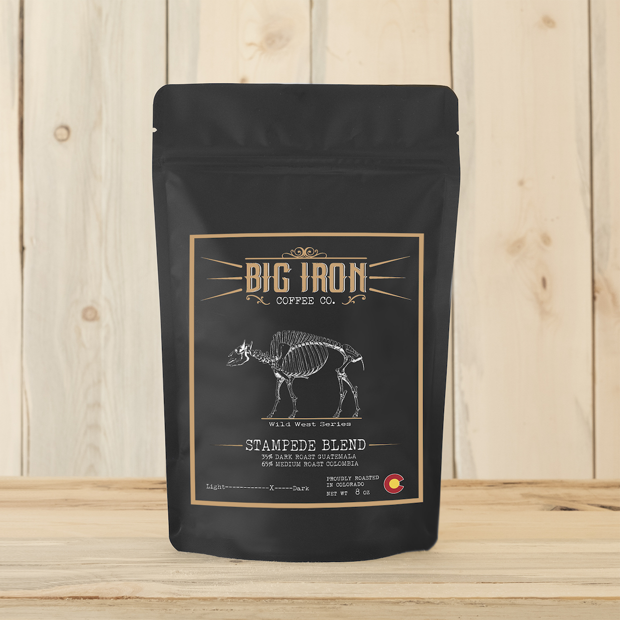 Big Iron coffee stampede blend