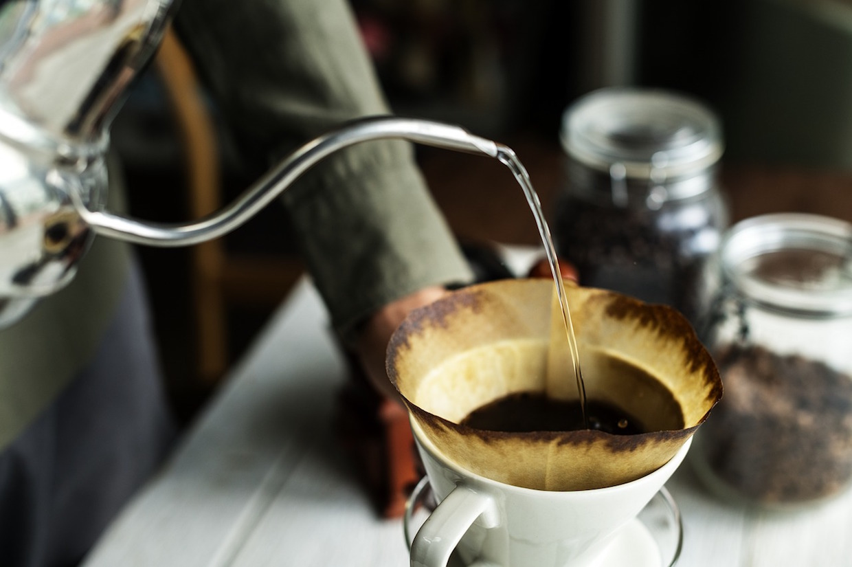 coffee brewing pourover