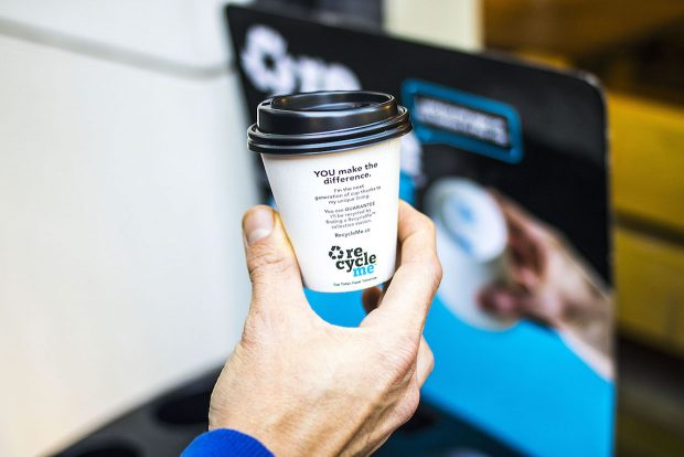 Detpack Launches Branded Recycling System for To-Go Cups