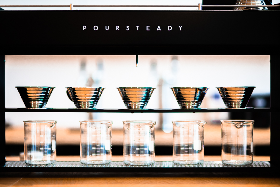Poursteady coffee