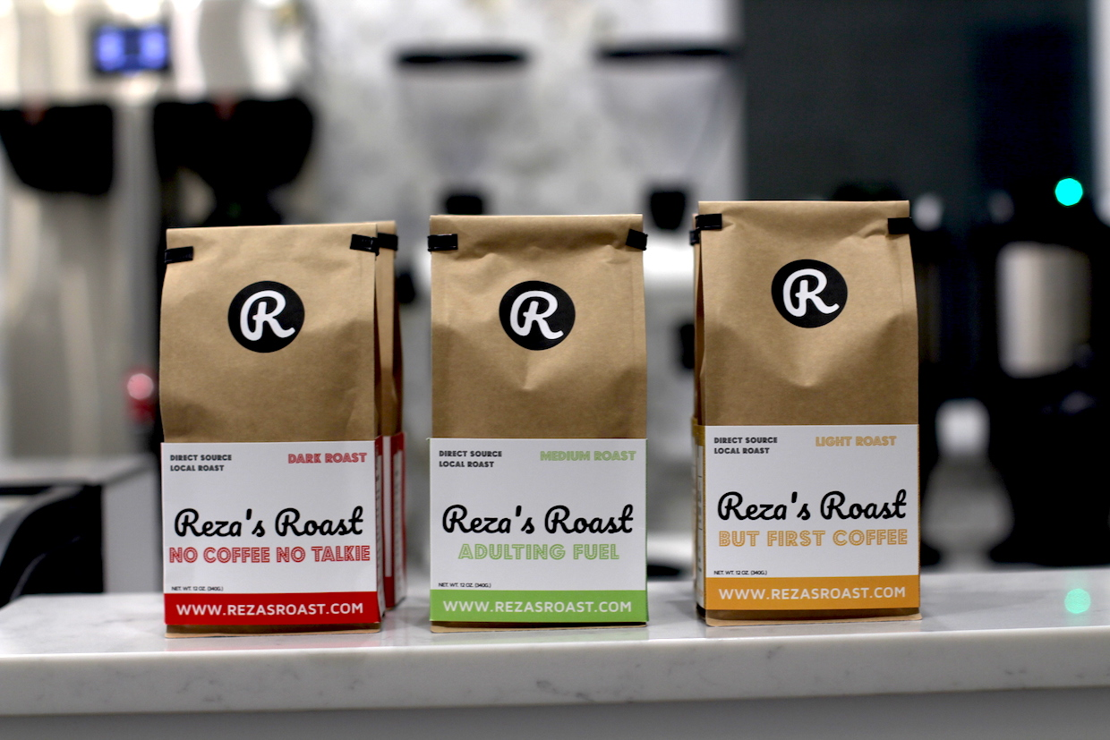 Reza's roasted coffees