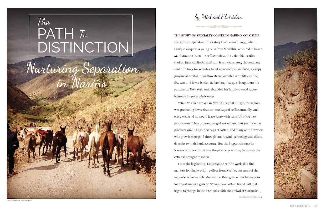 The Path to Distinction coffee story