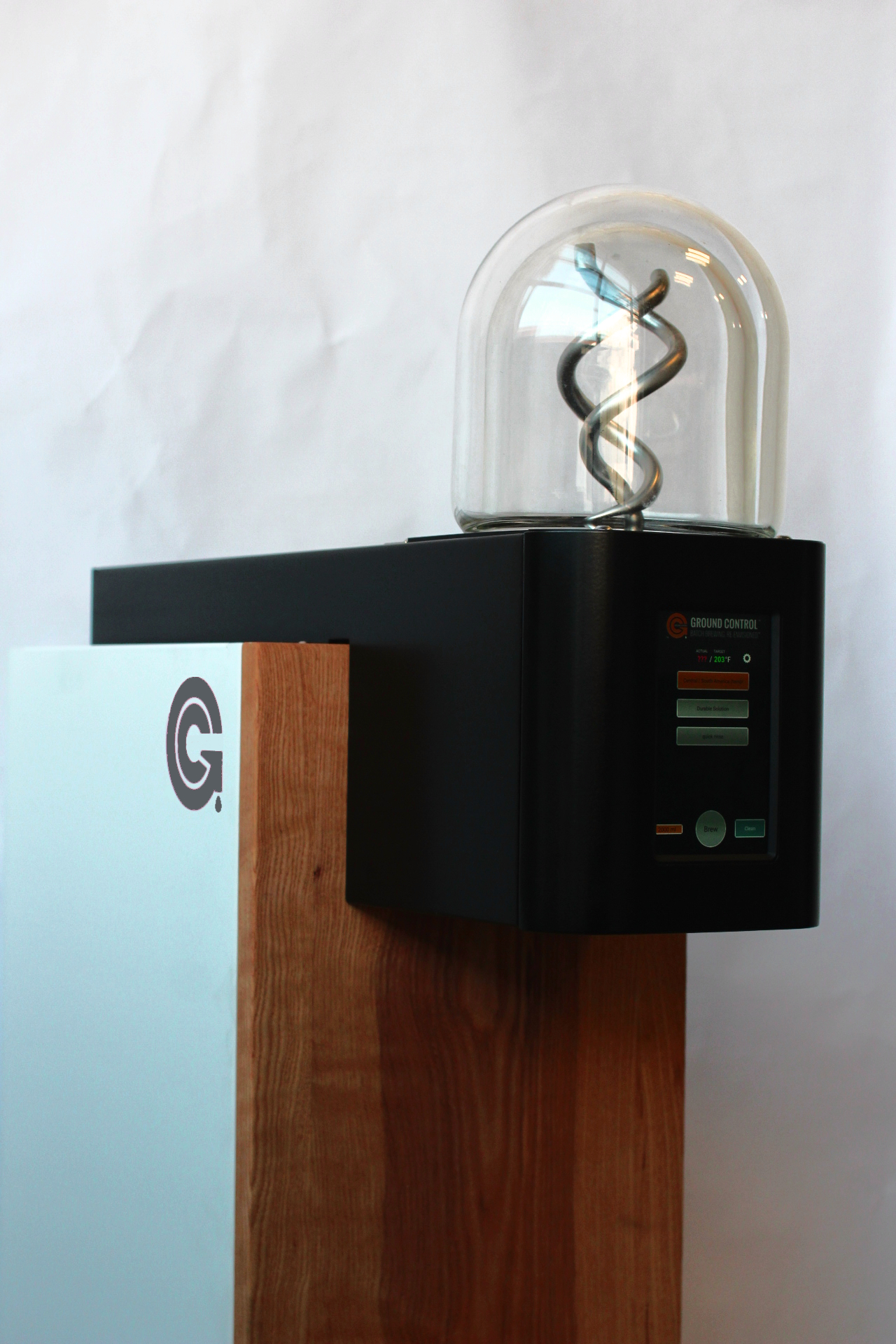 The base model of the Ground Control Cyclops batch coffee brewer