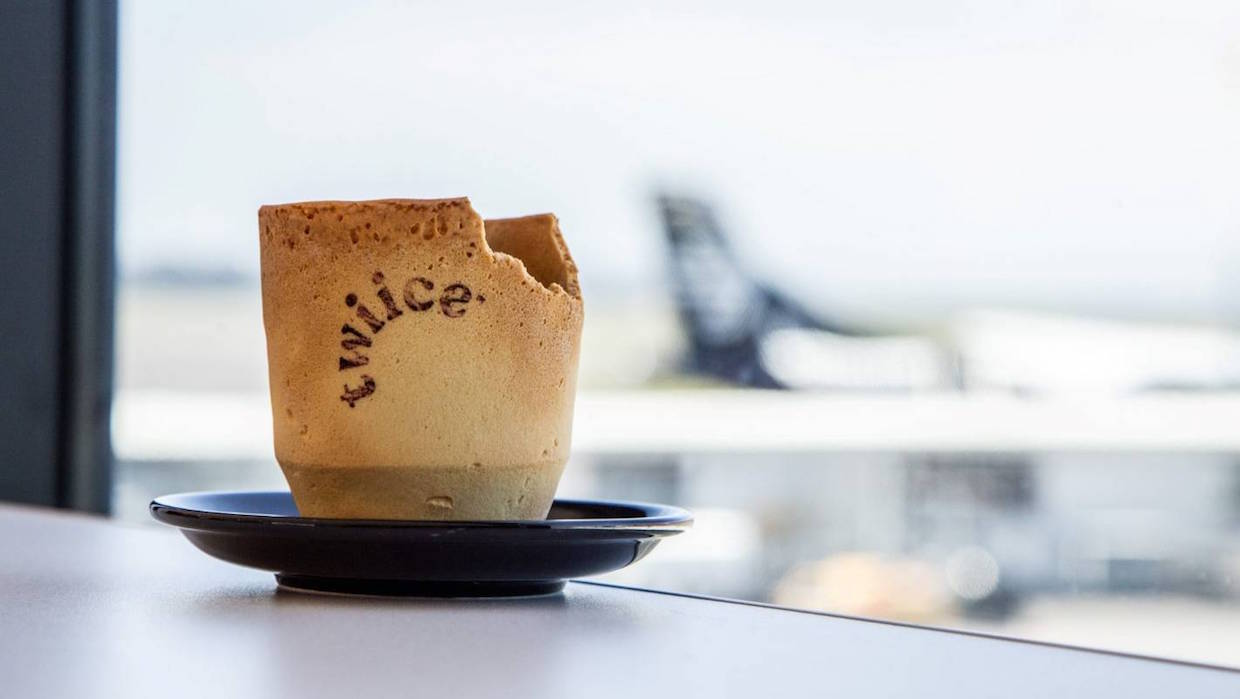 Air New Zealand is Piloting Edible Coffee Cups from